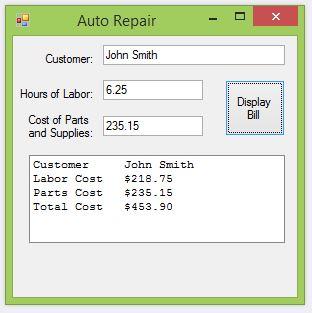 Repair Bill