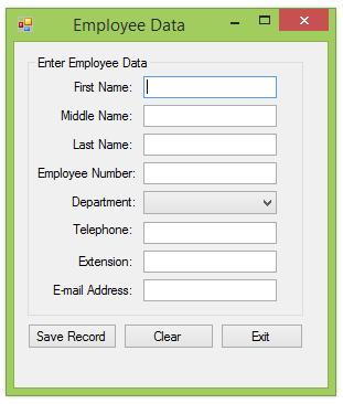 Employee Data Part One Screenshot