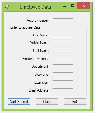 Employee Data Part Two Screenshot